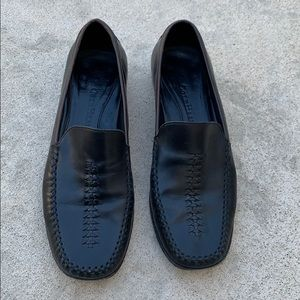 Cole Haan Black Loafers with Braid Detail Size 7.5